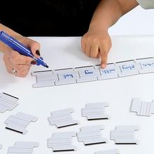 Abwischbare Puzzleteile mit Schreiblinien