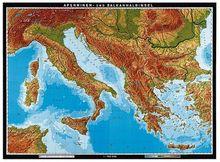 Apenninen- und Balkanhalbinsel, physisch