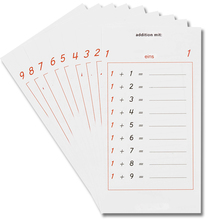 Aufgabenblätter zu den Grundrechenarten