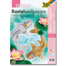 Bastelwellpappe Gold und Silber