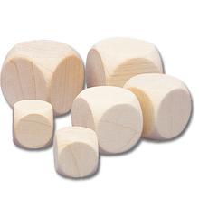 Blanko-Holzwürfel