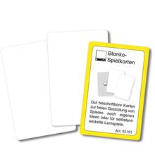 Blanko-Spielkarten, beidseitig weiß *Sale*