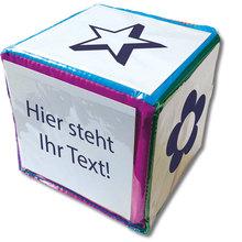 Blanko-Würfel mit Einstecktaschen 10 x 10 cm