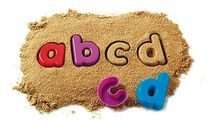 Buchstaben- und Zahlen-Sandformen