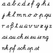 Buchstabenstempel: Lateinische Ausgangschrift
