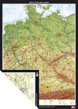 Duo-Karte Deutschland, physisch/politisch