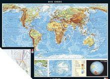 Duo-Karte Die Erde, physisch/politisch