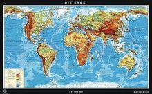 Duo-Karte Die Erde physisch/politisch
