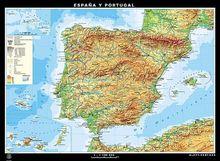 Duo-Karte Espana y Portugal, fisico/politico