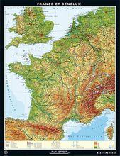 Duo-Karte France et Benelux, physique/politique