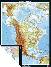 Duo-Karte Nordamerika, physisch/politisch