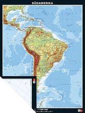 Duo-Karte Südamerika, physisch/politisch