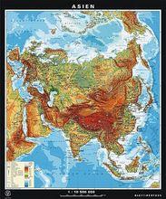 Duo-Wandkarte Asien physisch/politisch