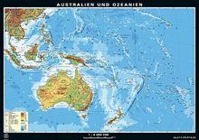 Duo-Wandkarte Australien und Ozeanien, physisch/politisch