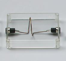 Elektromagnetische Feldlinien: Leiterschleife (1 Windung)