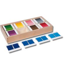Farbtäfelchen, Schattierungskasten mit 8 Farben