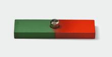 Flachstabmagnet mit Lagerpfanne