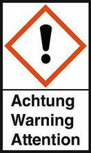"""GHS-Warnetiketten """"Ausrufezeichen – Achtung"""""""