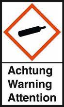 """GHS-Warnetiketten """"Gaszylinder – Achtung"""""""