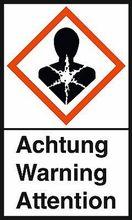 """GHS-Warnetiketten """"Gesundheitsgefahr – Achtung"""""""