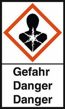 """GHS-Warnetiketten """"Gesundheitsgefahr – Gefahr"""""""