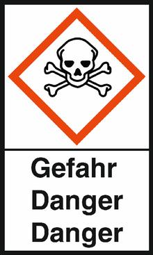 "GHS-Warnetiketten ""Totenkopf – Gefahr"""