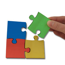 Gruppen-Puzzle aus Holz