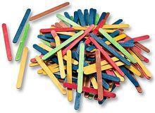 Holzstäbchen farbig sortiert
