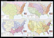 Karte Die Vereinigten Staaten seit 1783