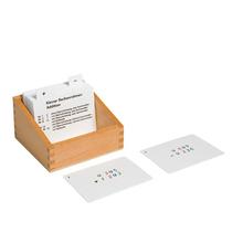 Kasten mit Aufgabenkarten für den kleinen Rechenrahmen