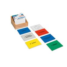 Kasten mit Aufgabenkarten für die geometrischen Körper
