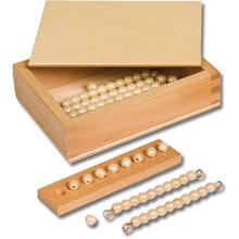 Kasten mit Zehnerstäbchen und Einerperlen