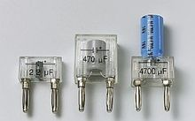Kondensator auf Steckelement 0,1µF, 250V