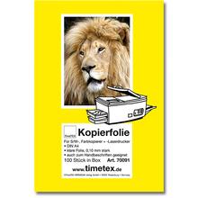 Kopierfolie für Farbkopien und Laserdruck