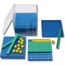 Kubikdezimeterwürfel in 3 Farben aus RE-Plastic