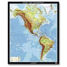 Nord- und Südamerika, physisch