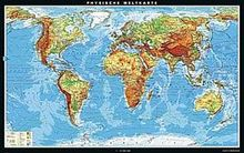 Physische Weltkarte