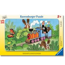 Rahmenpuzzle Maulwurf-Lokführer