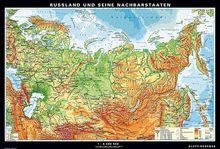 Russland und seine Nachbarstaaten, physisch/politisch