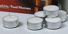 Satz(10) Teelichte in Metallbechern