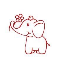 Siebdruck-Stempel Elefant