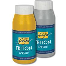 SOLO GOYA Triton Acrylic 750 ml, Gold/Silber