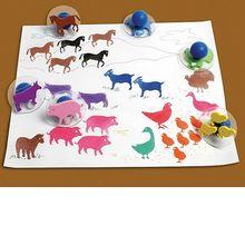 Stempel Bauernhof-Tiere