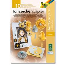 Tonpapier-Block Gold/Silber A4