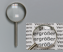 Vergrößerungsglas D= 75 mm