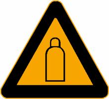 Warnschild: Druckgasflaschen