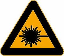 Warnschild: Laserstrahl