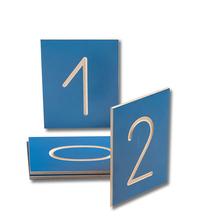 Zahlen bis 10 Holztafeln
