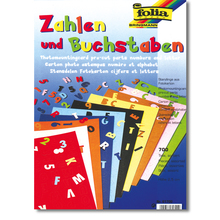 Zahlen und Buchstaben Fotokarton