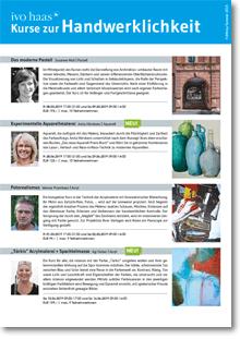 Kursprogramm vom Ivo Haas Fachmarkt